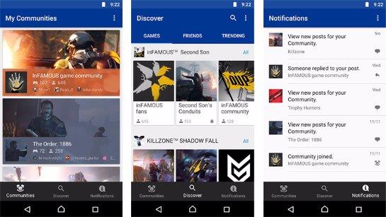 Приложение PlayStation Communities для владельцев PS4 на Android и iOS