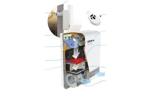 Бризер для очистки воздуха в производственных цехах и жилых помещениях