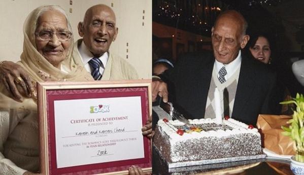 Новый рекорд верности — 87 лет вместе