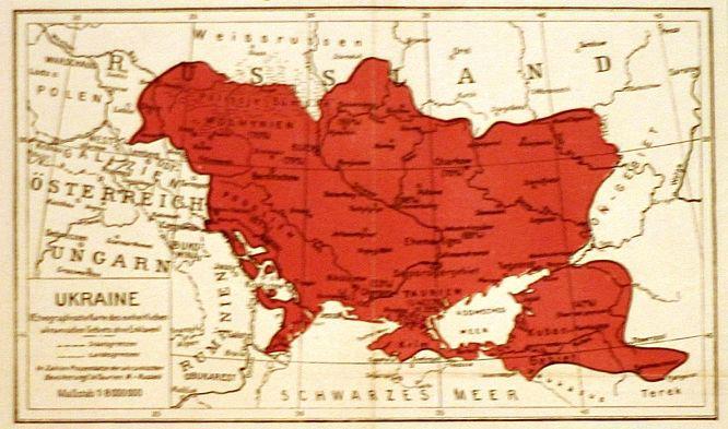 СМИ опубликовали карту Украины 1918 года
