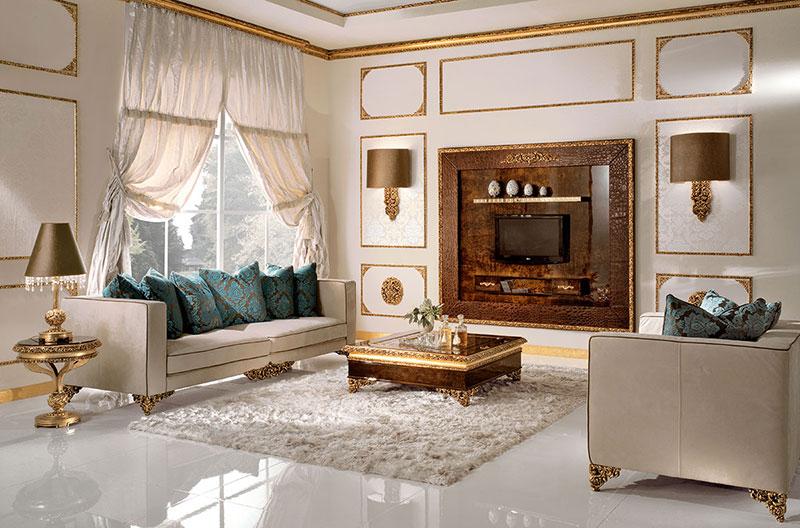 Мебель для роскошной гостиной из Италии