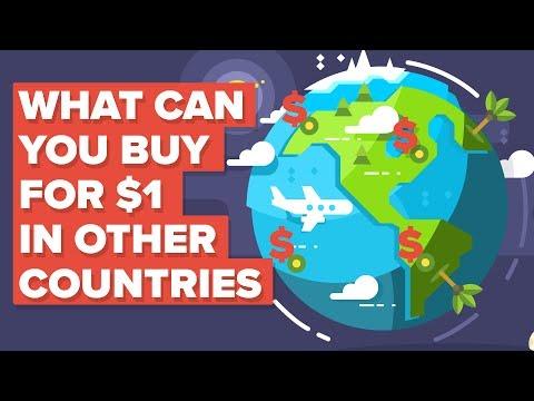 Что можно купить за 1 доллар в разных странах