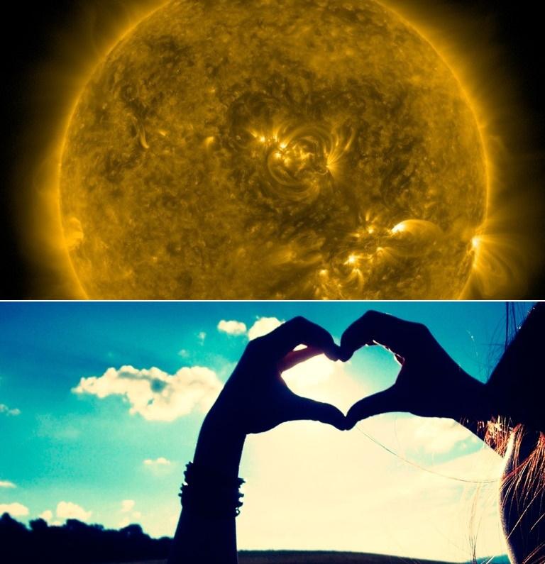 Симпатия к Земле: на Солнце появилось огромное сердце