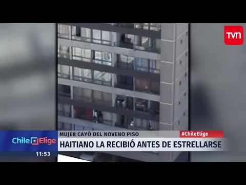 Видеошок: мужчина поймал женщину, падающую с 9 этажа