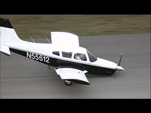 Во Флориде пилот расцеловал землю после жесткой посадки. ВИДЕО