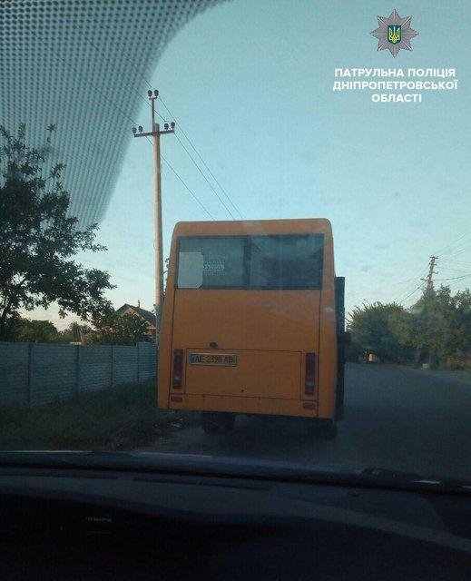 В Днепре подозрительный водитель возил людей не по тому маршруту. ФОТО
