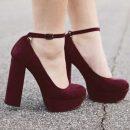 Модное решение – туфли на толстом каблуке
