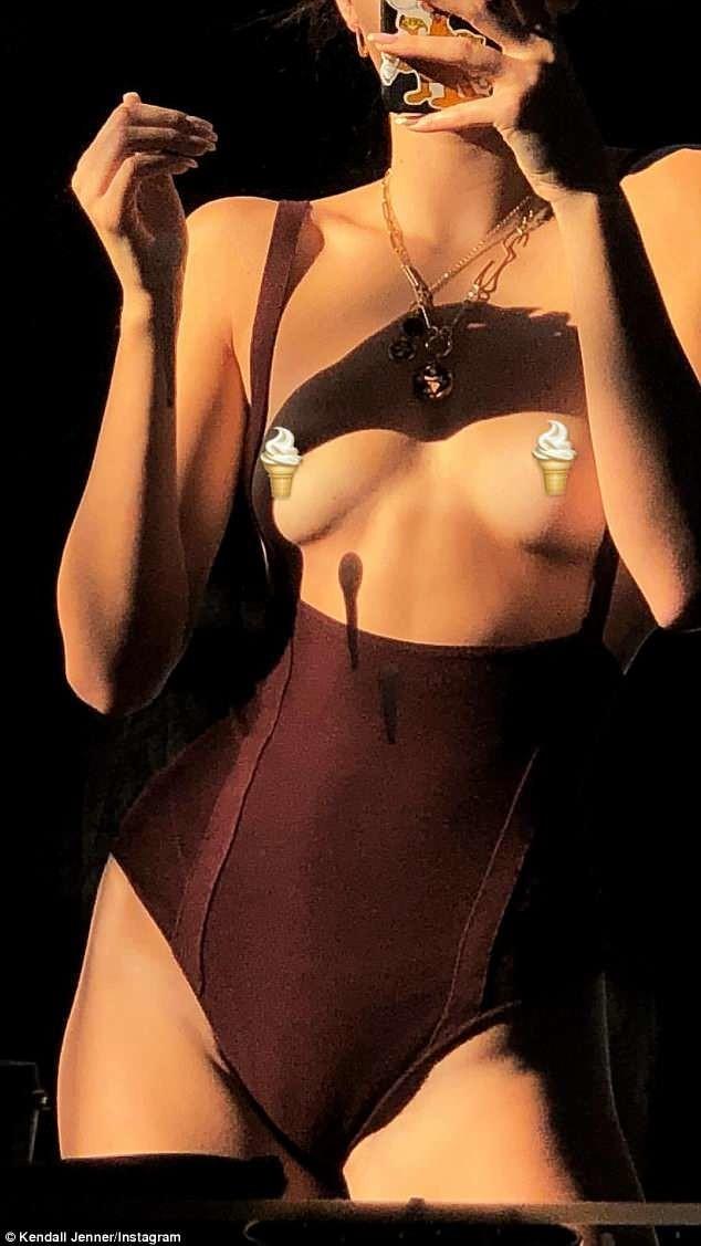 """""""Отмороженная"""" грудь. Кендалл Дженнер поделилась горячим фото топлес"""