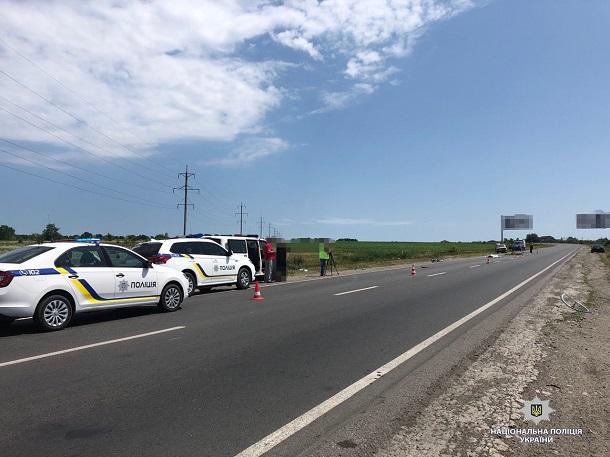 Под Харьковом водитель устроил смертельный наезд на группу велосипедистов. ФОТО