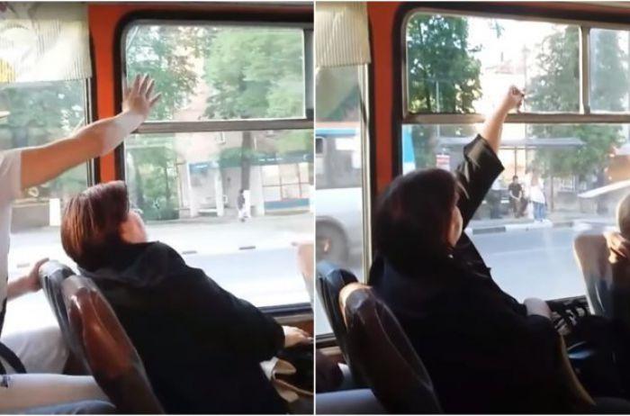 Жёсткая схватка за форточку в российском троллейбусе повеселила Сеть