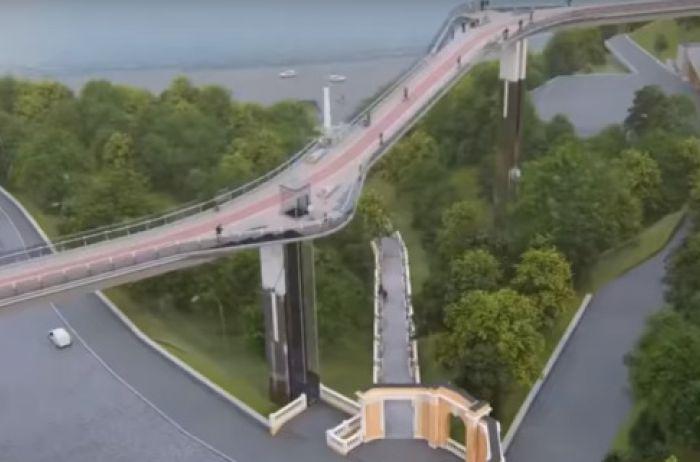 Соединит два туристических маршрута: в Киеве построят новый мост. ВИДЕО