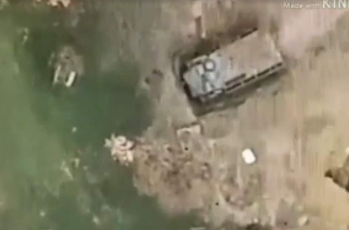 Возле Горловки уничтожены позиции террористов ДНР. ВИДЕО