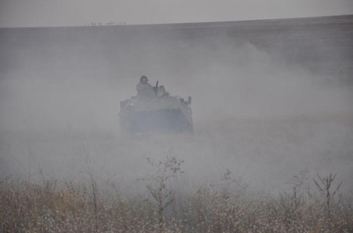 Захват Азовского моря: на побережье танки, стрельба. ФОТО