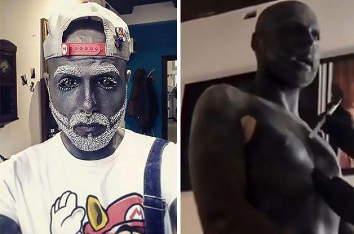 Фотомодель из России набил тату на 90% тела и отрезал себе половык органы. ФОТО
