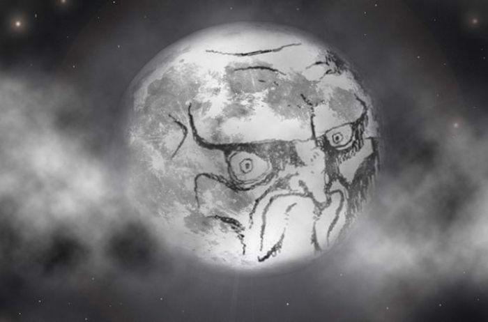 На Луне обнаружили лицо гуманоида