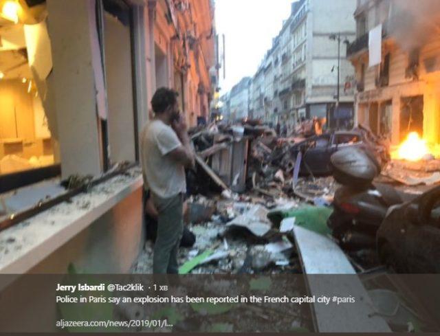 Всё в огне: в центре Парижа прогремел мощнейший взрыв