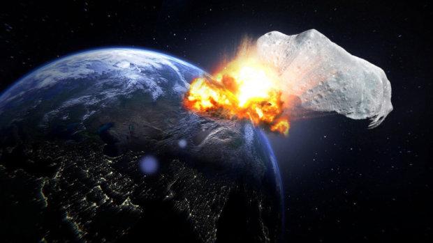 Что будет, если на Землю грохнется 500-километровый астероид. ВИДЕО