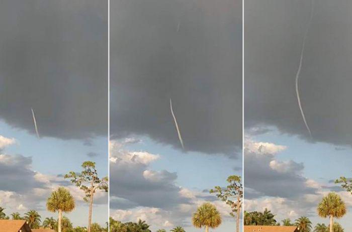 Странного «небесного червя» видели над Флоридой. ВИДЕО