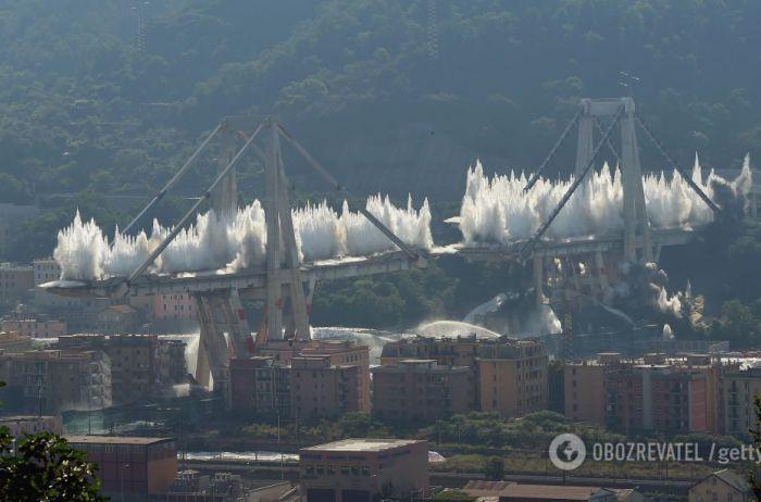 В Италии взорвали мост, на котором погибли 43 человека
