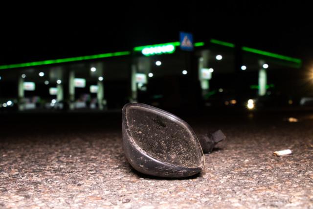 Страшное ДТП на Окружной в Киеве: байкер врезался в Lanos и вылетел в Audi. ФОТО, ВИДЕО