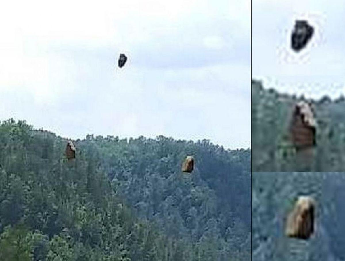 В США мужчина сфотографировал камни, парящие в воздухе