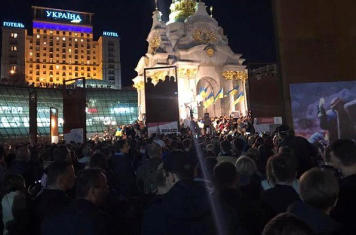 Против «формулы Штайнмайера»: митингующие анонсировали вече на Майдане