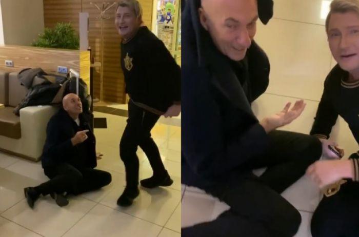 Басков и Крутой отличились дракой в аэропорту. ВИДЕО