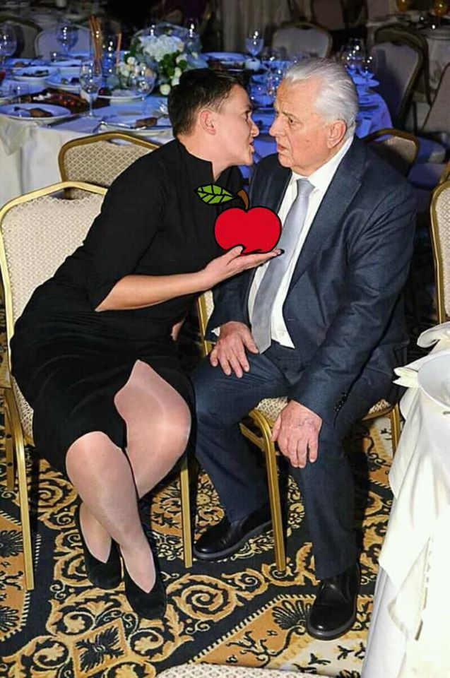 Украинцы веселятся над фотожабой на Савченко и Кравчука