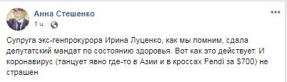 «Самый большой приз моей жизни»: Луценко показал, как его любимая «отжигает» с пандой в ТЦ. ВИДЕО