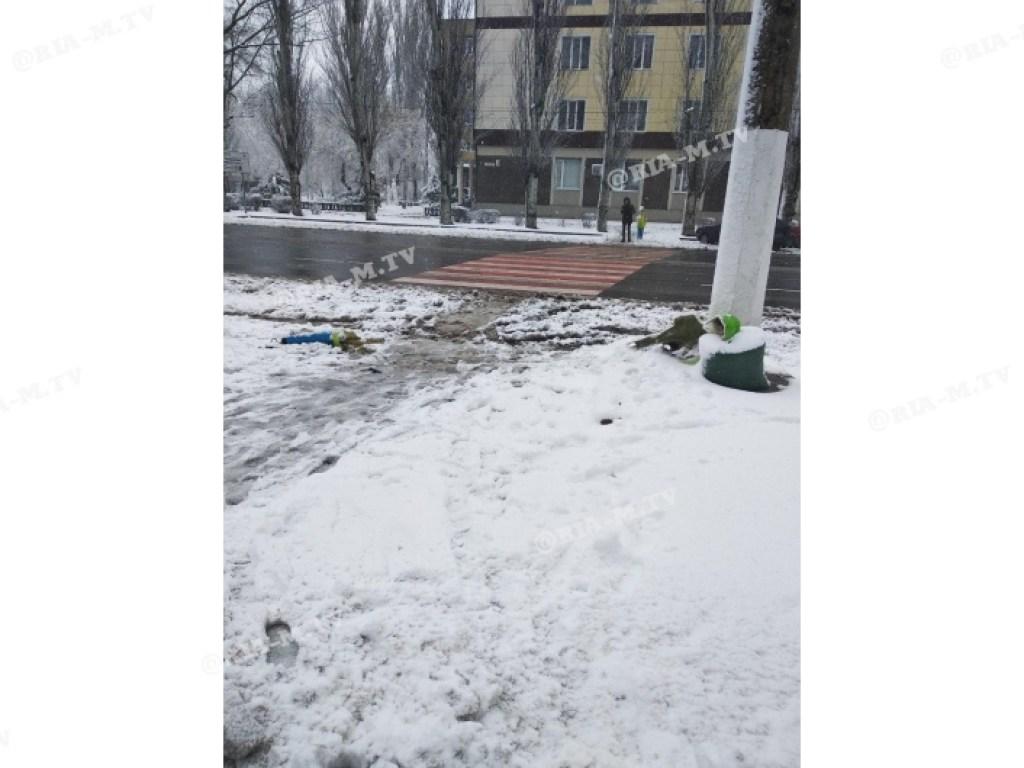 В Мелитополе разыскивают водителя, который снес «школьника» возле «зебры». ФОТО