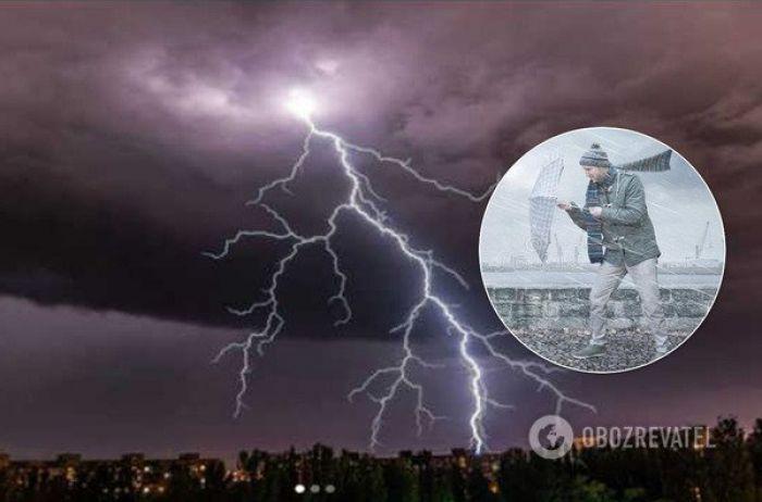 Желтый уровень опасности: на Украину надвигается шторм