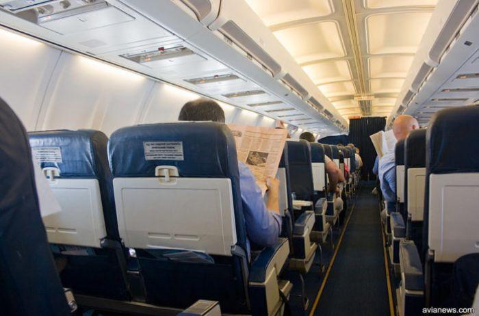 Распространение вируса в самолете: ученые показали процесс
