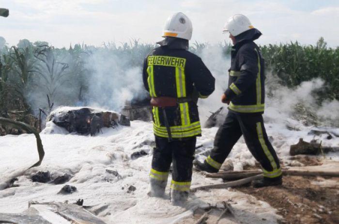 На Киевщине произошло крушение самолета