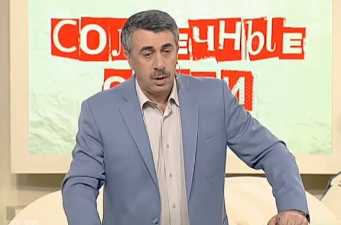 Комаровский рассказал, что делать при солнечных ожогах и тепловых ударах