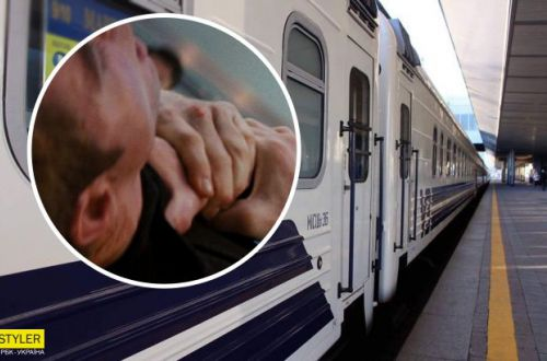 В поезде Харьков-Рахов пассажир хотел задушить проводника. ВИДЕО