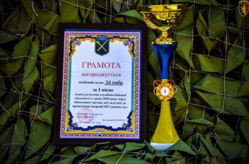 24 омбр імені короля Данила визнана найкращою в ООС протягом липня