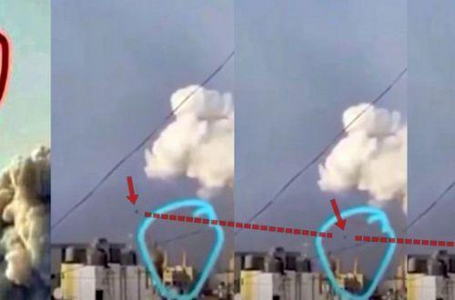 Незадолго до мощного взрыва в Бейруте заметили странный сферический объект