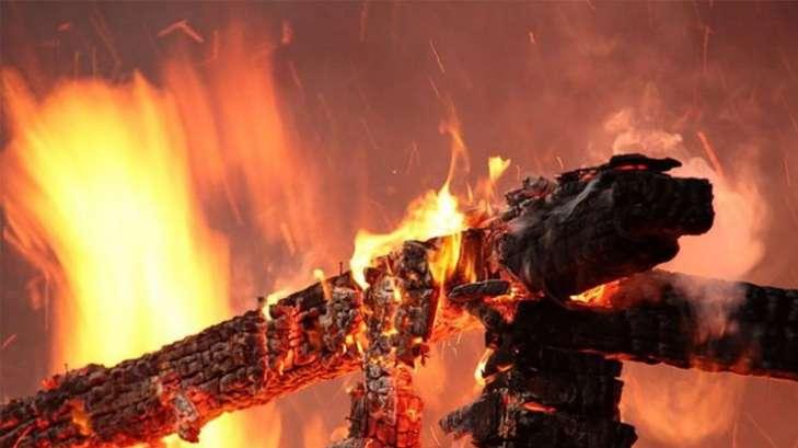Сторож детсада сгорела во время сжигания мусора