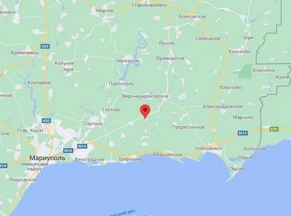 карта оккупации Донбасса