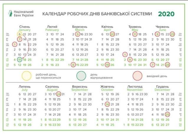 календарь работы банка