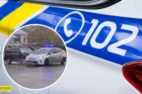 Такого еще не было: в Одессе неадекват прокатил полицейских на заборе. ВИДЕО