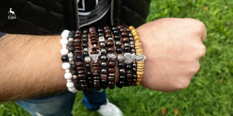 Мужские браслеты из натуральных камней и дерева