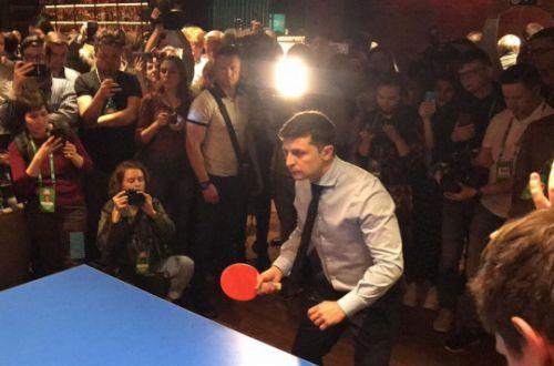 Мендель показала, как Зеленский играет в пинг-понг. ВИДЕО