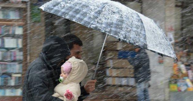 Вторник принесет в Украину мороз и дождь со снегом