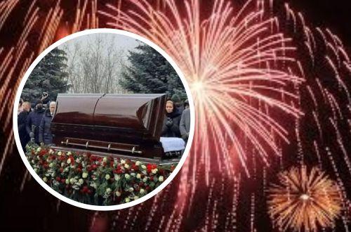 Хулиганы устроили салют на похоронах Кернеса: прямо на кладбище. ВИДЕО