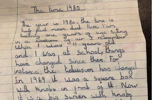 Сочинение девочки из 1969 года невероятно точно предсказало будущее