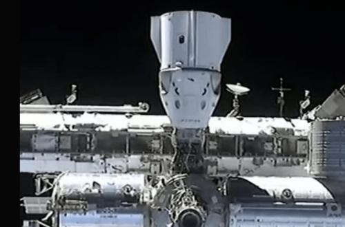 Crew Dragon успешно пристыковался к станции МКС. ВИДЕО