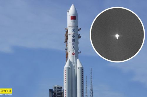 22-тонная ракета рухнула на Землю: ВИДЕО падения