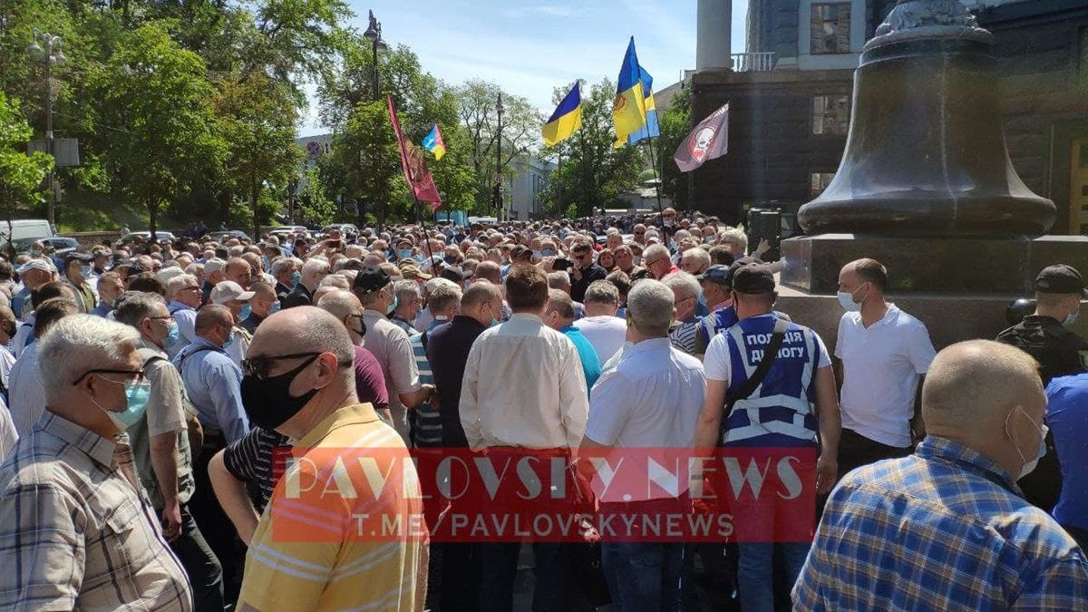 Пенсионеры силовых ведомств проводят акцию протеста