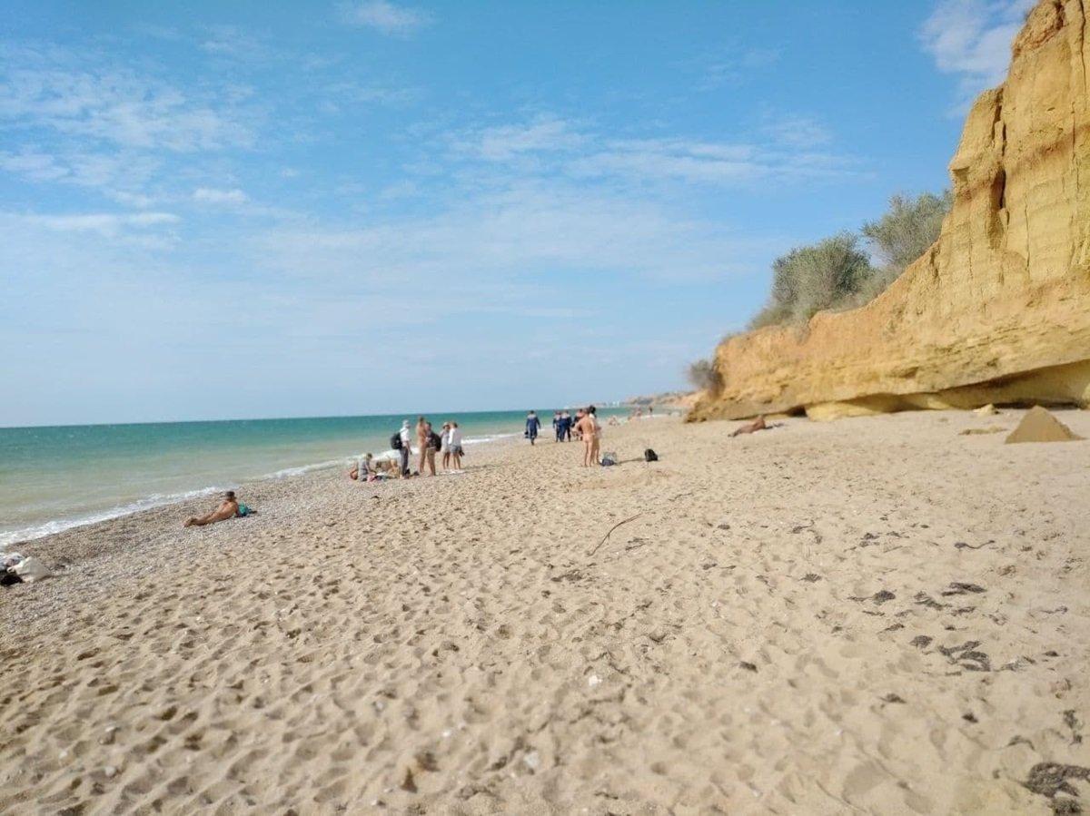 Оползень сошёл на нудистский пляж под Севастополем
